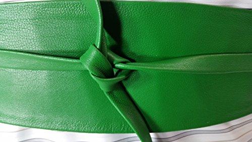 VIKTOR SABO Handmade OBI KELLY Green Leather For Waist Line Up To 24