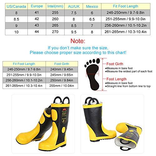 Foratura Dimensione Kkmoon Contro In Chimico Protezione Elettrica A Acqua Fuoco Impermeabile Di Stivali Ignifugo Lotta Di Prova 44 Anti Laptop RAqRw6