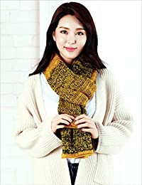 nwn Winter Long Scarf Female Double-Knit Thickening Dual-use Cashmere Shawl (Color : C)