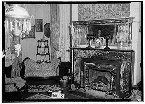 8 x 12 Photo 16. Historic American Buildings Survey Alex Bush, Photographer, December 28, 1934 Fireplace in Drawing Room, WEST Side - Rosemount, County Road 19, Forkland, Greene County, 1863 06a by Vintography
