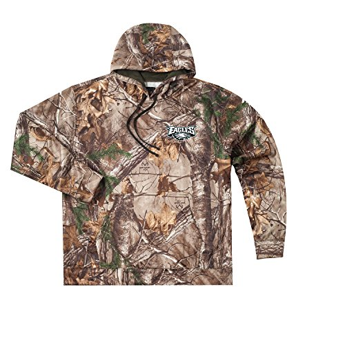 Eagle Full Zip Hoodie - Dunbrooke Apparel NFL Philadelphia Eagles Adult Champion Realtree Xtra Polyester Tech Fleece Full Zip Hoodie, X-Large, Camo