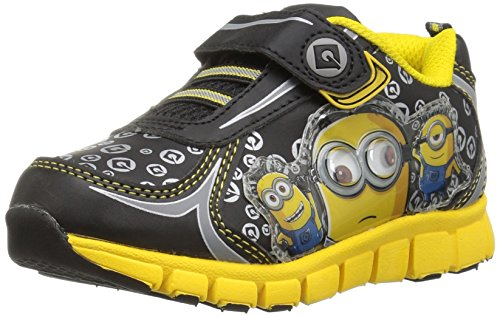Despicable Me Boys BLK-YLW ATH Shoe Sneaker, Black,