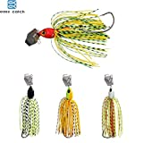 Fishing Lures - 6pcs/lot Lures Chatterbait Elite Series with Silicone Skirts buzzbait spinnerbait for Lure Fishing