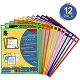 Dry Erase Pockets 12 Pack - Dry Erase Sleeves
