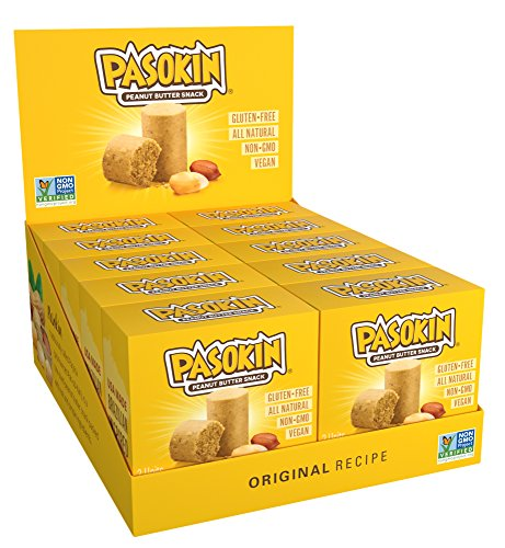 PASOKIN | Original Peanut Butter Snack | Gluten Free, Vegan, All Natural, Made in USA, 0.5 oz bites [20 count] (Brazilian Cookies)