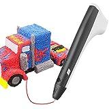 Tecboss 3D Pen, 3D Printing Pen-One Button Operation Full Kit W Two PCL Filaments, USB & 2pcs 3D Pen Filament Refills