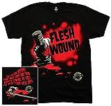 Liquid Blue Men's Monty Python Flesh Wound T-Shirt, Black, Medium