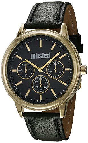 UNLISTED WATCHES Men's 'Sport' Quartz Metal Dress Watch, Color:Black (Model: 10031968)