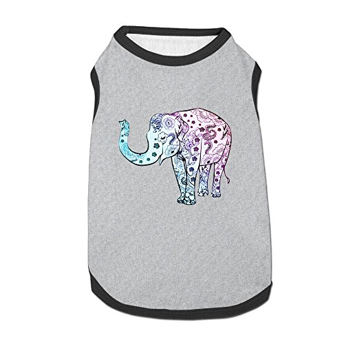 Agilitynoun Dog T-Shirt Clothes Colorful India Treasure Elephant Doggy Puppy Tank Top Pet Cat Coats Outfit Jumpsuit Hoodie