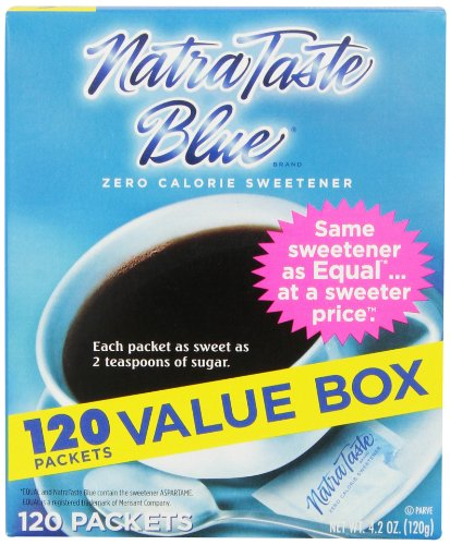 NatraTaste Blue Sweetener, 120 Count Packets (12 Count)