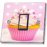 Sticker en vinyle pour interrupteur - Motif cup cake - Rose
