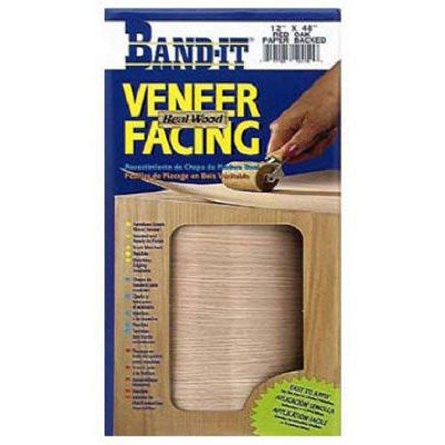 Band-It 12450 Paper Back Real Wood Veneer Facing, White Birch, 12