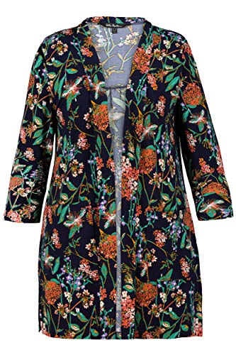 Veste Jersey Tailles 720014 Marine Fleuri Ulla Popken Grandes Femme Bleu IqZnpxnOHw
