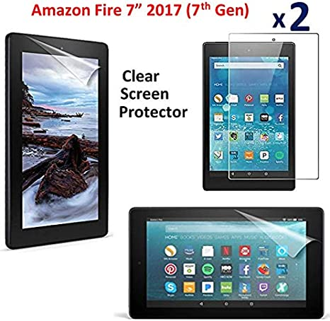 Clear Screen Protector Guard For Amazon Fire 7 Kids w// Alexa 7th Gen, 2017