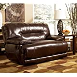 Signature Design by Ashley 4240182 Exhilaration Collection Oversized Power Recliner, Chocolate