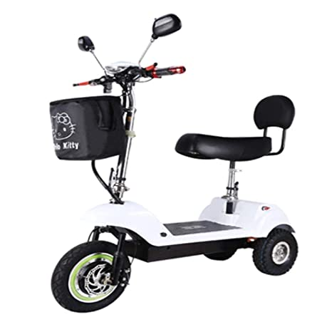 XWZG Scooter eléctrico portátil Adulto Mini Triciclo ...