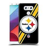 Official NFL Stripes Pittsburgh Steelers Logo Hard Back Case for LG G6 / G6 Dual