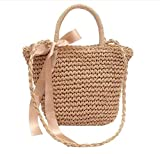 Woman Natural Straw Shoulder Crossbody Handbags Woven Handbags Handmade Suit For Beach,Party,Shopping Bag