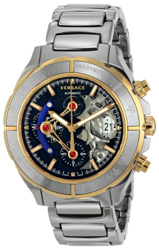 Versace-Mens-VK8020013-DV-ONE-Skeleton-Chrono-Analog-Display-Automatic-Self-Wind-Silver-Watch