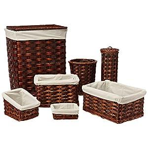 Honey-Can-Do HMP-01866 7-Piece Wicker Hamper Kit