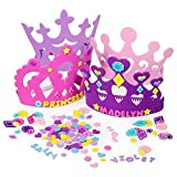 Fun Express Princess Tiara Crown Craft Kits (24 Foam Tiaras and 800 Piece Princess Craft Shapes)