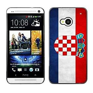 Paccase / SLIM PC / Aliminium Casa Carcasa Funda Case Cover - National Flag Nation Country Croatia - HTC One M7