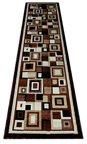 Modern Rug Runner 32 In. X10 Ft. Brown Design # 125