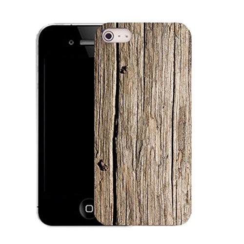 Mobile Case Mate IPhone 5S clip on Silicone Coque couverture case cover Pare-chocs + STYLET - bark pattern (SILICON)