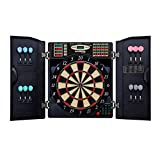 Bullshooter by Arachnid E-Bristle 1000 LED Electronic Dartboard Cabinet Set