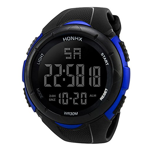 Price comparison product image Outsta Luxury Men Sport Watches, Analog Digital Military Army Sport LED Waterproof Wrist Watch Fashion Business Watches Gift (Blue 3001F)