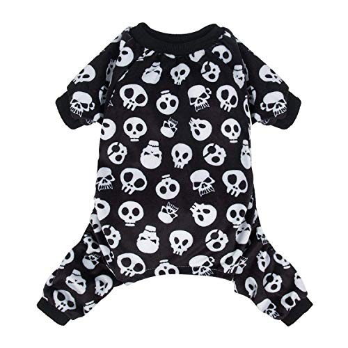 CuteBone Dog Jumpsuit Skull Shirt Pet Pajamas Bodysuit for Small Doggie Onesies P11S]()