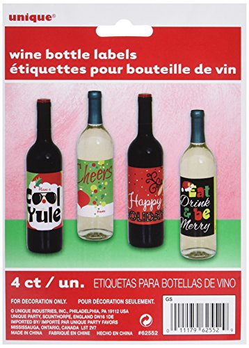 Christmas Gift Bottle Labels Assorted