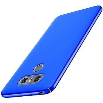 Anccer Funda LG G6 [Serie Colorida] [Ultra-Delgado] [Ligera] Anti-rasguños Estuche para Carcasa LG G6 (Azul liso)
