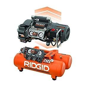RIDGID Tri-Stack 5-Gal. Portable Electric Steel Orange Air