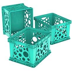 Storex Mini Crate, 9 x 7.75 x 6 Inches, ...