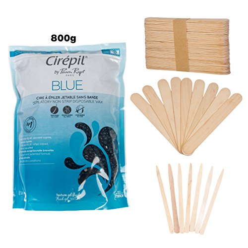 Compra Cirepil Big Blue Bead Wax (800gm) Kit, includes 100 X-Small and 60 Large Applicator Sticks by JMT Beauty en Usame