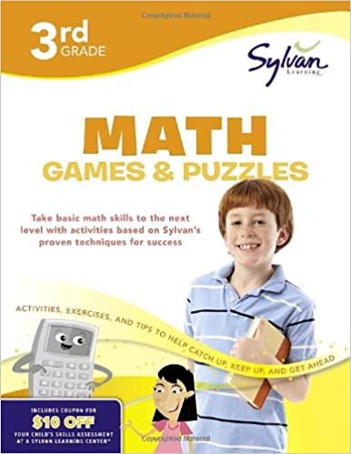 Amazon.com: Third Grade Math Games & Puzzles (Sylvan Workbooks ...