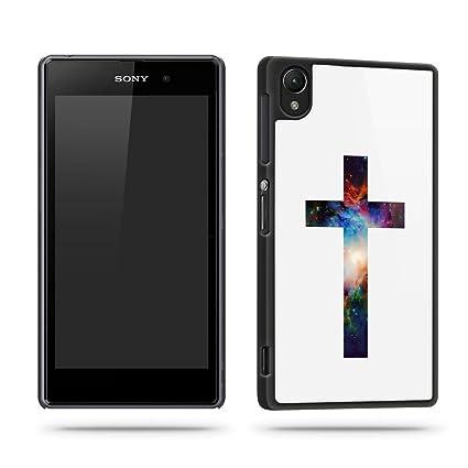 Amazon.com: Cruz Espacio Moda Religión teléfono Funda ...
