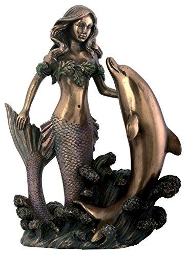 Mermaid Dolphin Figurine Decoration Statue