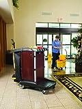 Rubbermaid Commercial FG9T9600MAHG Housekeeping Service Cart, Mahogany