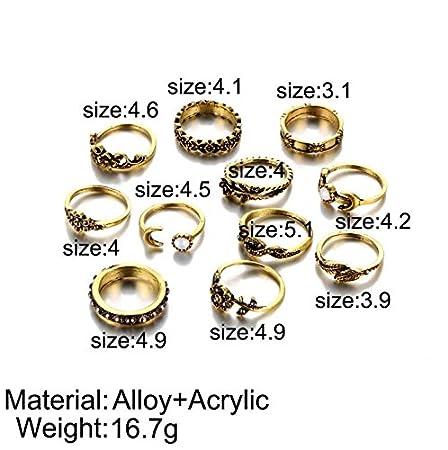 Retro mutil design 11 PCS//set rings