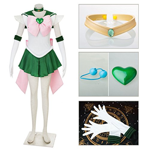 [Dazcos Sailor Moon SuperS Jupiter Adults Fighting Cosplay Costume (Women M)] (Sailor Moon Adult Womens Costumes)
