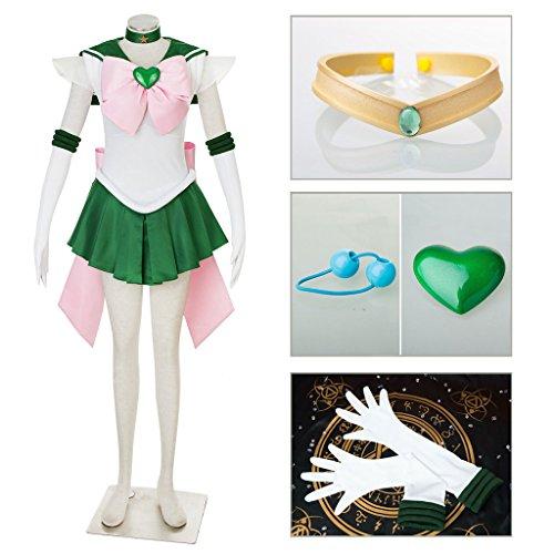Sailor Moon Super S Costume (Dazcos Sailor Moon SuperS Jupiter Adults Fighting Cosplay Costume (Women S))