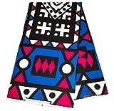 Blue Angolan Samacaca/Wholesale African Fabric/Ankara Fabric/ / Tribal Print Fabric/African Clothing/Ankara Wax Print / 6 Yards WP397