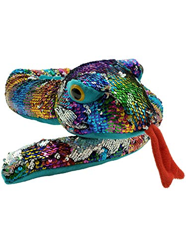 LMC Products Rainbow Flip Sequin Stuffed Snake