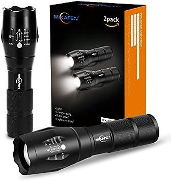 2 Mikafen CREE XML T6 LED Zoom Flashlight Waterproof Torch 600Lm 5 Mode Light