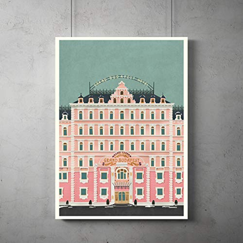 (Grand Budapest Hotel vintage Poster, Grand Budapest Minimalist print, Wes Anderson Art, All Prints avialable in 9 SIZES and 3 type of MATERIALS)