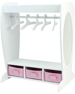 18 Inch Doll Clothes Furniture Dress Up Rack By Sophiau0027s With Mirror U0026  Storage Fits American