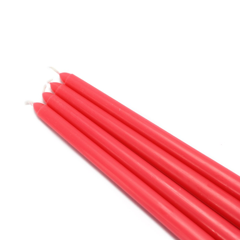 Zest Candle CEZ-071_12 144-Piece Taper Candle, 12'', Ruby Red by Zest Candle (Image #1)