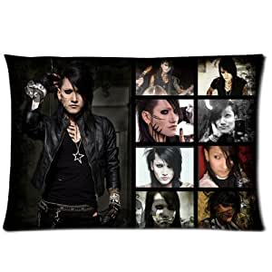 Generic Personalized Rock Music Band Black Veil Brides Ashley Purdy Poster Roomy Zippered Pillowcase 30x20 inches (One Side)